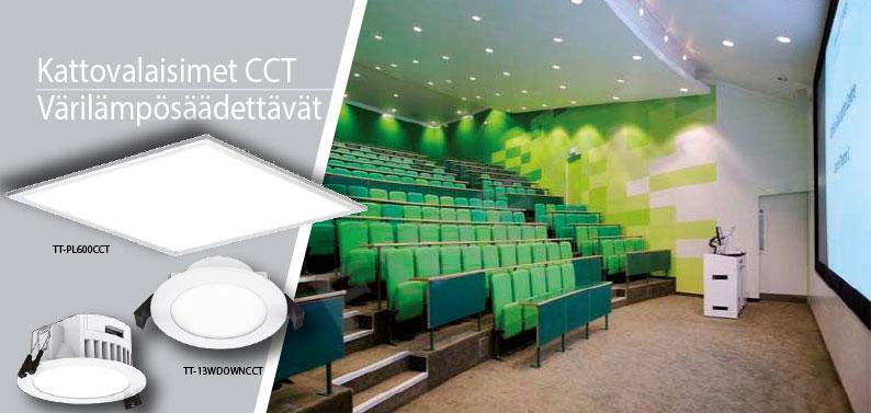 Kattovalaisimet CCT Värilämpösäädettävät