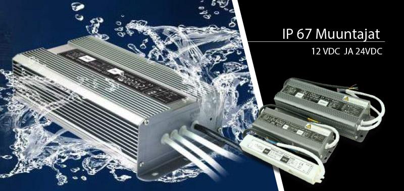 IP 67 Muuntajat 12 VDC JA 24VDC