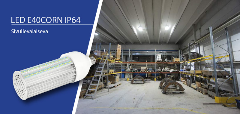 LED E40CORN IP64 Sivullevalaiseva