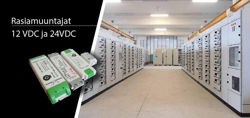 Rasiamuuntajat 12 VDC ja 24VDC